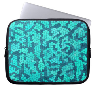 Turquoise Teal Blue Pattern Laptop Sleeve