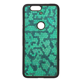 Turquoise Teal Blue Pattern Wood Nexus 6P Case