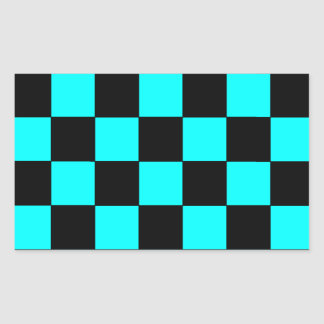 Turquoise Teal Checkerboard Chessboard Stickers 3