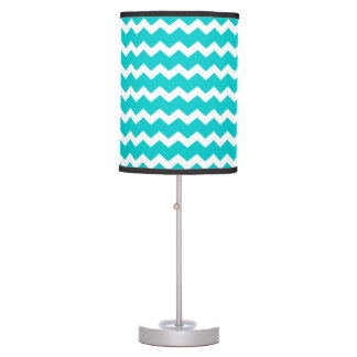 Turquoise Teal Chevron Table Lamp