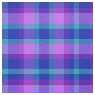 Turquoise Teal Navy Blue Purple Lavender Plaid Fabric