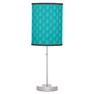 Turquoise Teal Stars Table Lamp