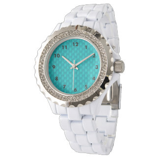 Turquoise Teal Stars Watch