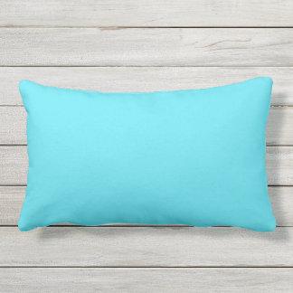 Turquoise Texture Print Outdoor Lumbar Pillow