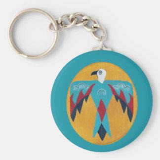 Turquoise Thunderbird Keychain