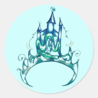 Turquoise Tiara Round Sticker