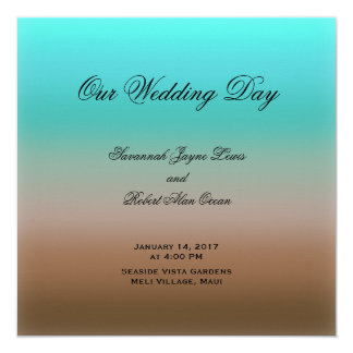 Turquoise to Brown Tropical Wedding Program