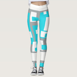 Turquoise Tranquility Funky Leggings