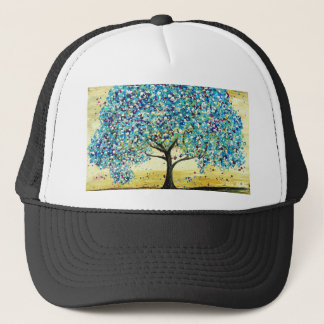 Turquoise Tree Custom Item Trucker Hat