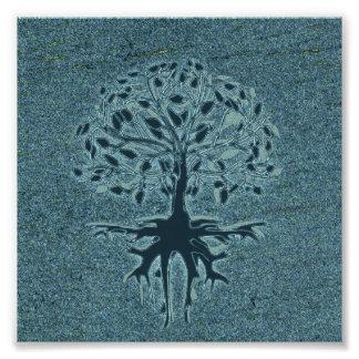 Turquoise Tree of Life Photo Print