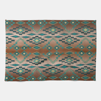 Turquoise Tribal Ombre' Kitchen Towels