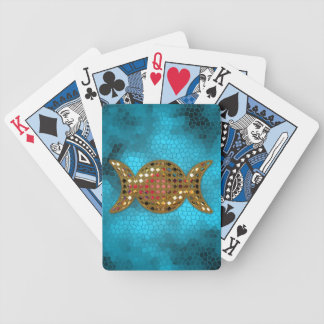Turquoise Triple Goddess Moon Deck of Cards