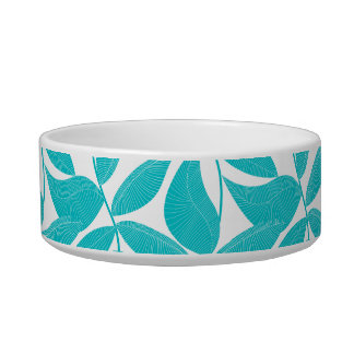 Turquoise tropical leaves bowl