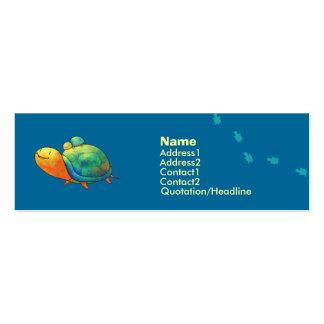 Turquoise Turtles Profile Card Mini Business Card