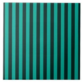 Turquoise Vertical Stripes Style Decor Tiles