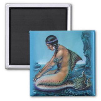 turquoise vintage  mermaid  fantasy art magnet