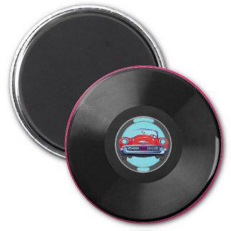 Turquoise, vinyl-record1, car magnet