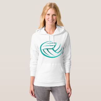 Turquoise Volleyball Ball - Hoodie for teammates