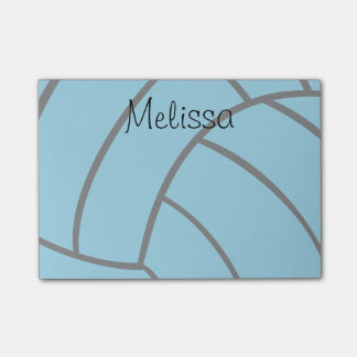 Turquoise Volleyball Custom Monogram Post-It Notes