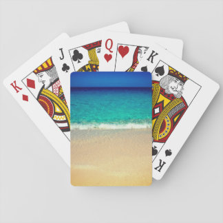 Turquoise Water Beach Playing Cards