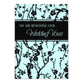 Turquoise Wedding Vow Renewal Invitation Card