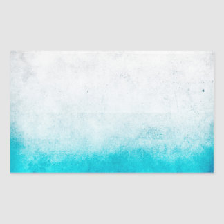 Turquoise & White Ombre Distressed Watercolor Sticker