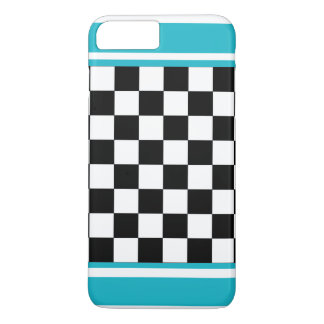 Turquoise White Summer Checkerboard CricketDiane iPhone 7 Plus Case