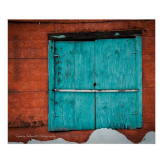 Turquoise Window Poster