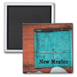 Turquoise Window Square Magnet