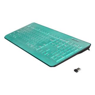 Turquoise Wireless Keyboard
