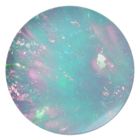 turquoise with a hint of pink plate