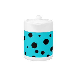Turquoise with Black Polka Dots Fashion Fun
