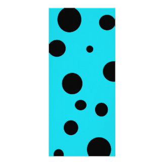 Turquoise with Black Polka Dots Fashion Fun Personalized Rack Card