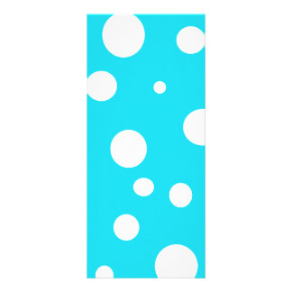 Turquoise with White Polka Dots Fashion Fun Full Color Rack Card