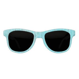 Turquoise Wood Texture Sunglasses
