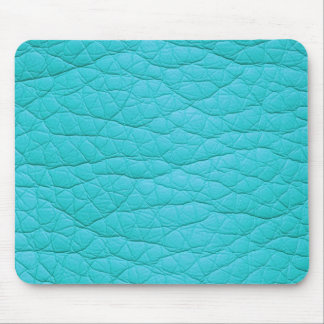 Turquoise Wrinkled Faux Soft Leather Mousepad