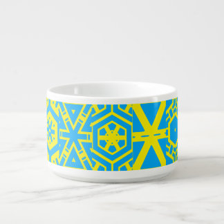 Turquoise Yellow Abstract Yarmouth's fave Chili Bowl
