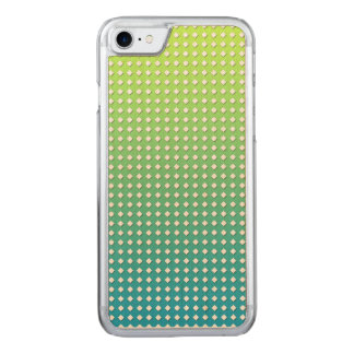 Turquoise Yellow Geometric Pattern Diamonds Carved iPhone 8/7 Case