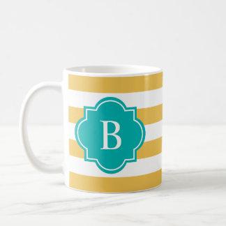 Turquoise & Yellow Rugby Stripe | Mug