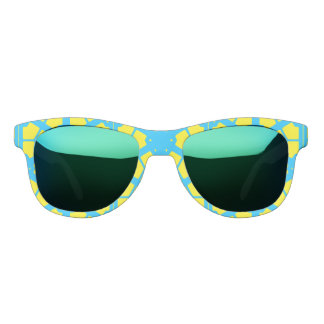 Turquoise Yellow Sunshine 4Tina Sunglasses