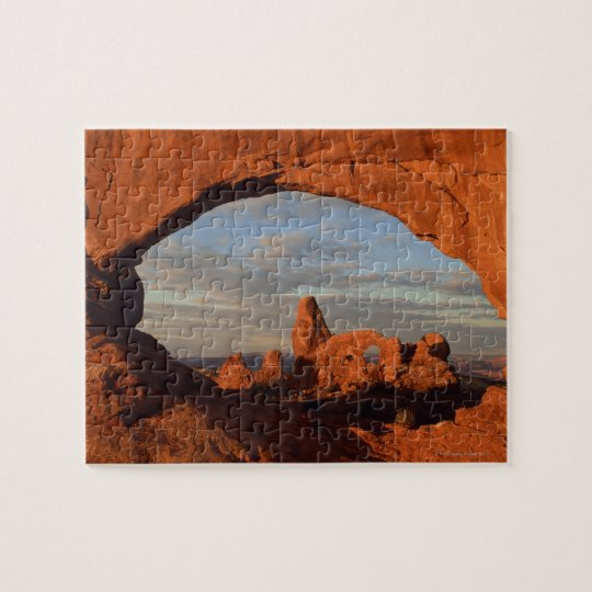 Turret Arch seen through North Window , Arches Jigsaw Puzzle