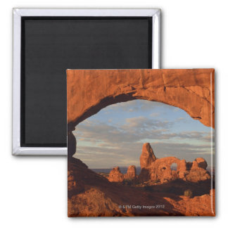 Turret Arch seen through North Window , Arches Square Magnet