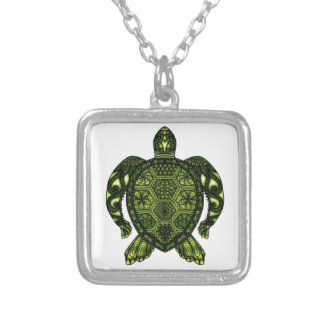 Turtle 2b silver plated necklace