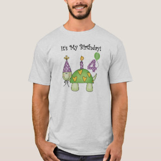 Turtle 4th  Birthday T-Shirt