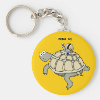 Turtle and snail BUCKLED UP Keychain
