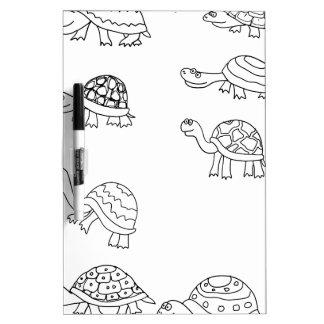 turtle animal shell personalize custom dry erase whiteboard