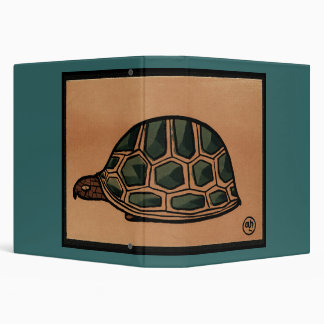 Turtle - Antiquarian, Colorful Book Illustration Binders