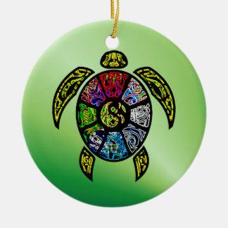 Turtle Ba-Gua Ceramic Ornament
