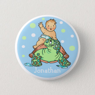 Turtle Baby Boy Button