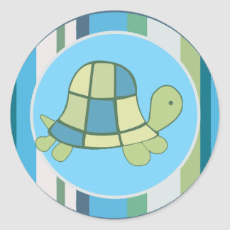 TURTLE BAY Blue Stripe Envelope Seals | favors
